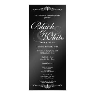Comprimento incorporado do chá da dança preta & convite