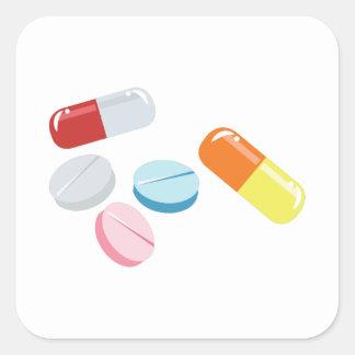 Comprimidos misturados adesivo quadrado