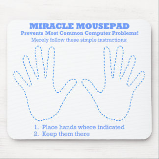 Computador engraçado Mousepad do milagre
