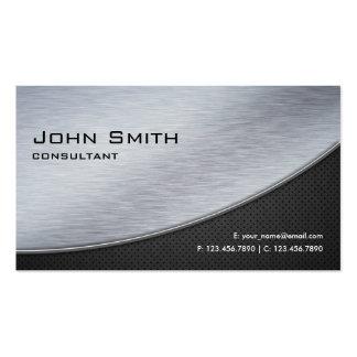 Computador moderno elegante profissional da prata cartão de visita