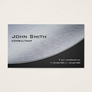 Computador moderno elegante profissional da prata cartão de visitas