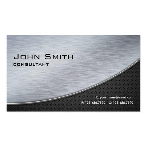 Computador moderno elegante profissional da prata  cartao de visita