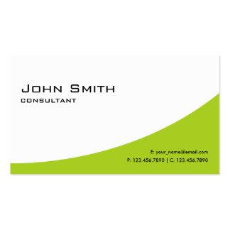 Computador moderno elegante verde profissional cartão de visita