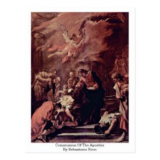 Comunhão dos apóstolos por Sebastiano Ricci Cartão Postal