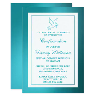 Comunhão santamente ou confirmação da pomba convite 12.7 x 17.78cm