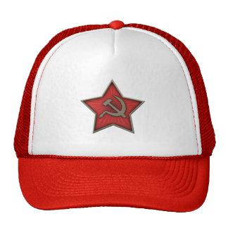 Comunista soviético do martelo e da foice da boné