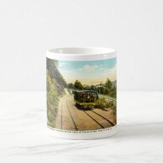 Comute para trás a estrada de ferro, vintage 1925 caneca de café