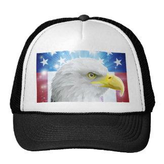 Conceito da bandeira da águia de América Bones