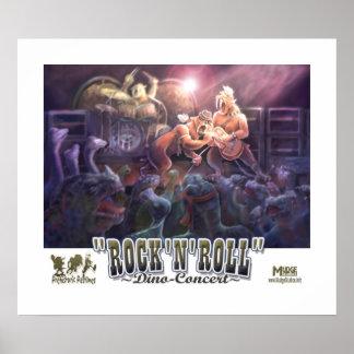 Concerto do dinossauro do rock and roll pôster
