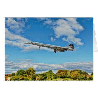 Concorde em finais cartão comemorativo