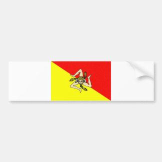 Condado do sicilia de Italia da bandeira da região Adesivo Para Carro
