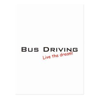 Condução do sonho/ônibus cartão postal