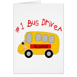 Condutor de autocarro #1 cartão comemorativo