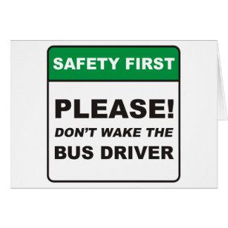 Condutor de autocarro/acordar cartao