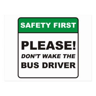 Condutor de autocarro/acordar cartões postais
