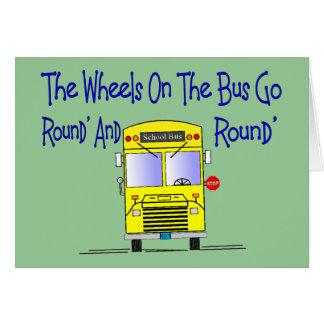 """Condutor de autocarro """"as rodas no ônibus """" cartão comemorativo"""