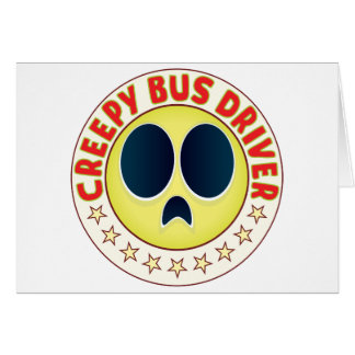 Condutor de autocarro assustador cartão comemorativo
