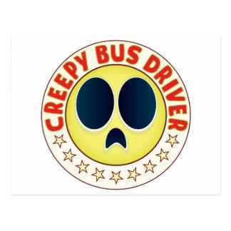 Condutor de autocarro assustador cartão postal