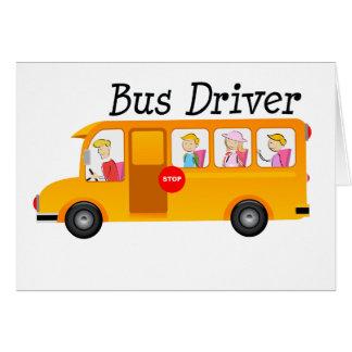 Condutor de autocarro cartão
