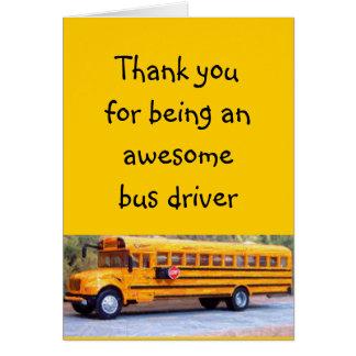 Condutor de autocarro cartão comemorativo