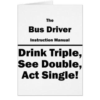 condutor de autocarro cartão de nota