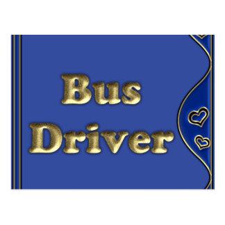 Condutor de autocarro cartao postal