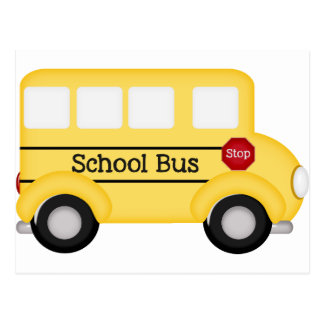 Condutor de autocarro da escola cartão postal