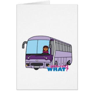 Condutor de autocarro da mulher cartão comemorativo