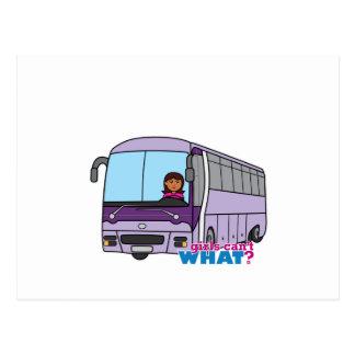 Condutor de autocarro da mulher cartão postal