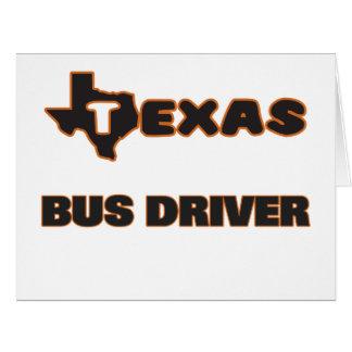 Condutor de autocarro de Texas Cartão Comemorativo Grande