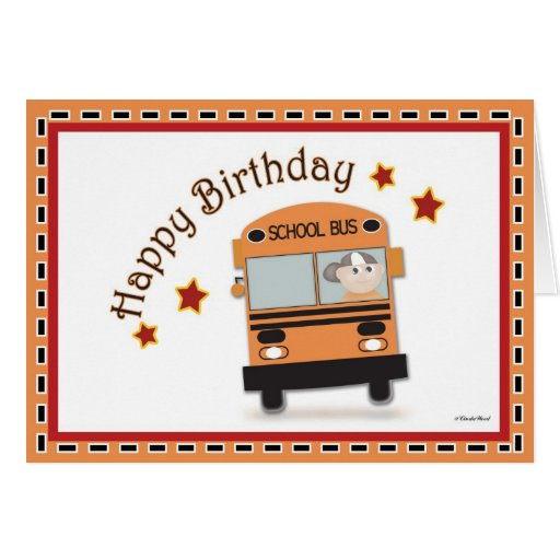 Condutor de autocarro do feliz aniversario cartão