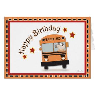 Condutor de autocarro do feliz aniversario cartão comemorativo