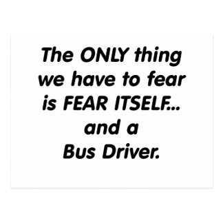 Condutor de autocarro do medo cartão postal