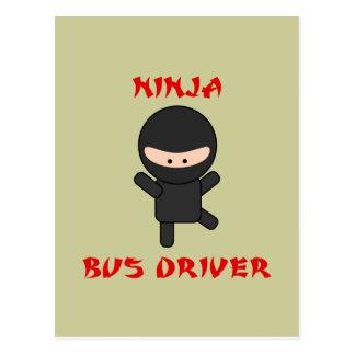 condutor de autocarro do ninja cartão postal