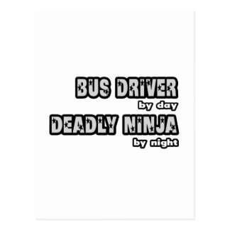 Condutor de autocarro em o dia… inoperante Ninja e Cartao Postal