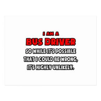 Condutor de autocarro engraçado. Altamente Cartoes Postais