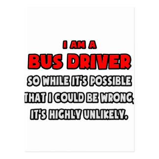 Condutor de autocarro engraçado. Altamente Cartão Postal