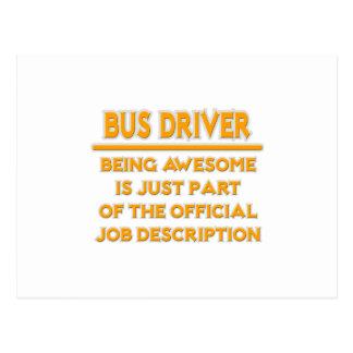 Condutor de autocarro. Enumeração das funções Cartoes Postais