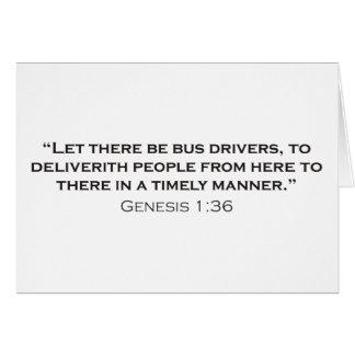 Condutor de autocarro/génese cartao