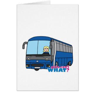 Condutor de autocarro - luz/louro cartão comemorativo