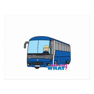 Condutor de autocarro - luz/louro cartão postal