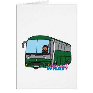 Condutor de autocarro - obscuridade cartão comemorativo