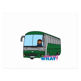 Condutor de autocarro - obscuridade cartão postal