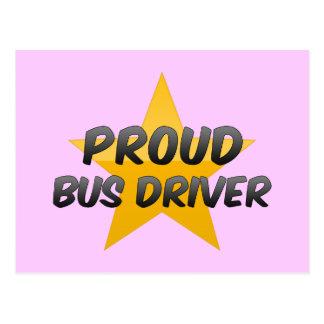 Condutor de autocarro orgulhoso cartão postal