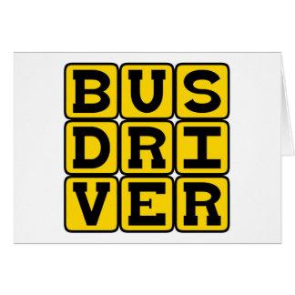Condutor de autocarro, profissão do transporte cartão comemorativo