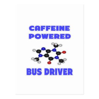 Condutor de autocarro psto cafeína cartoes postais