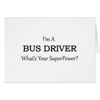 Condutor de autocarro super cartão comemorativo