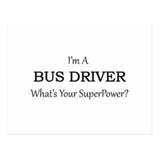 Condutor de autocarro super cartão postal