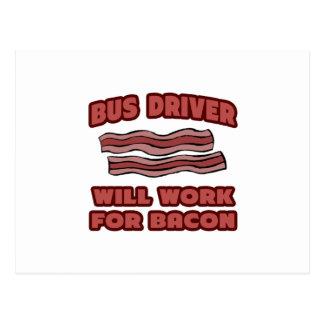 Condutor de autocarro. Trabalhará para o bacon Cartão Postal