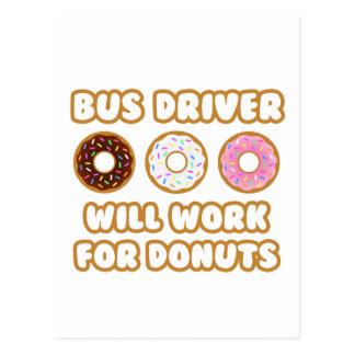 Condutor de autocarro. Trabalhará para rosquinhas Cartoes Postais